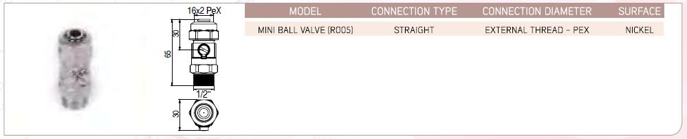 Mini Ball Valve (R005) - Straight