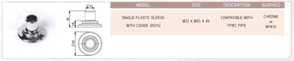 Single Plastic Sleeve With Cover (R015)