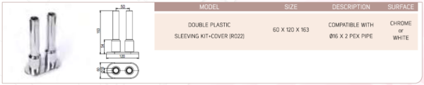Double Plastic Adjustable Sleeve With Cover (R023)